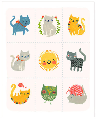 Sassy Cats by Sarah Walsh by PetitReve