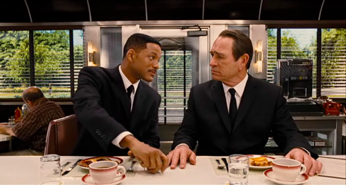 Will Smith and Tommy Lee Jones in Men In Black 3 (2012)