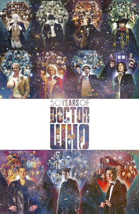'Doctor Who' 50th Anniversary Poster