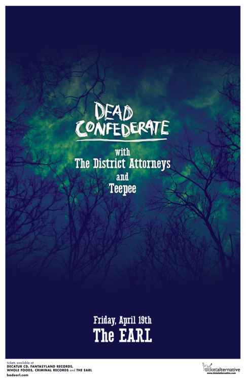 The District Attorneys are playing Dead Confederate's Atlanta cd release show at The Earl.   buy Slowburner on cd w/ dl - http://vibedeck.com/thisisamericanmusic/products/slowburner-cd-download    download