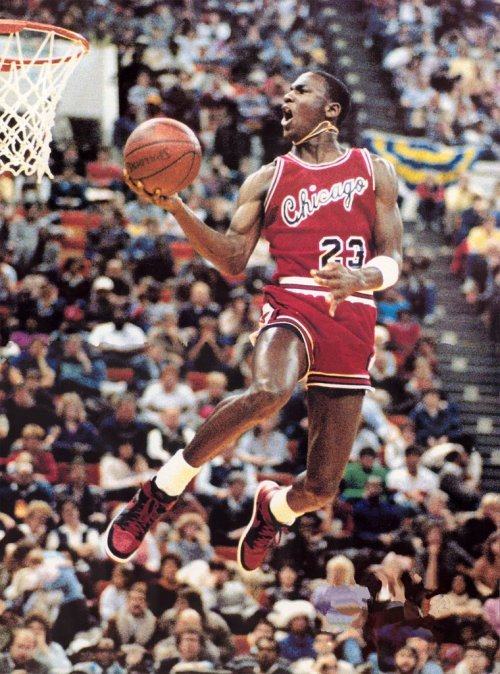 "nikeonmyfeet:  Before he defined the word ""Dunk"" and became Air Jordan"