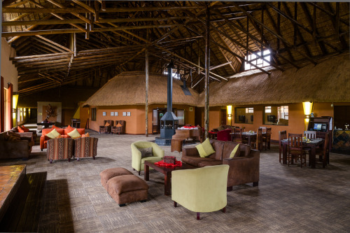 Hotel Christiana in the North West Province of South Africa is the largest thatched structure in the world. This is a photograph of a part of the interior. Amazing eh?