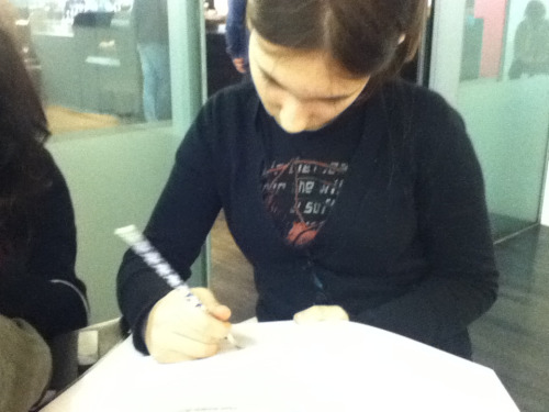 THIS IS HAZEL IN THE PROCESS OF DRAWING ME