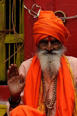 "India - Varanasi,""Portrait of a Sadhu"" vaisnava, through the narrow streets of the old town by M Majakovskij on Flickr."
