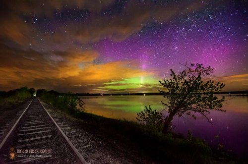 astrodidact:  Aurora At Unity Pond credit: Mike Taylor
