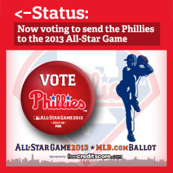 The 2013 All-Star Game ballot is now available. So what should you do?  First, go to http://atmlb.com/Mo4BVP and start voting. Then, REBLOG this so your friends know you're busy voting Phillies all day.