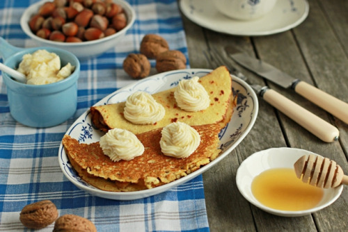clottedcreamscone:  quinoa pancakes by stilesiana on Flickr.