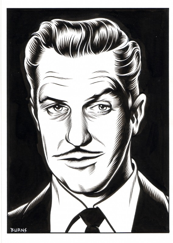 brianmichaelbendis:  Vincent Price by Charles Burns