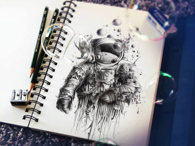cjwho:  This is the latest (2013) sketchbook drawings of French illustrator Pez