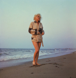 "George Barris last photographed Marilyn Monroe between June 9th and July 18th (she was on suspension from Fox), on Santa Monica Beach ~ sadly she died very soon after on Aug 5th, 1962.""I could see a sadness in her eyes; she had learned to smile, laugh and clown, even though her heart was breaking."" ~ Photographer George Barris, on their last photo shoot"
