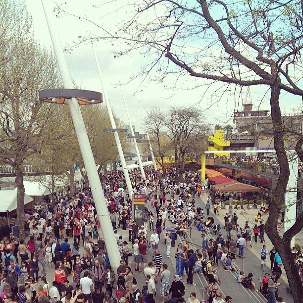 Busy day on London's South Bank