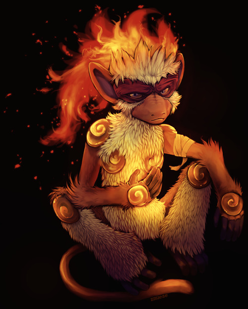 alternativepokemonart:  Artist Infernape by request.