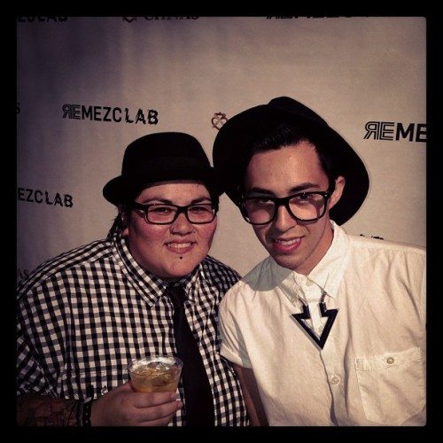 With my cousin @marchuizar at #remezcla #chivasregal event! #hollywood (at The Deco Building)