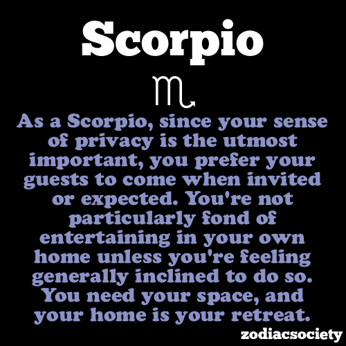 zodiacsociety:  Scorpio Facts