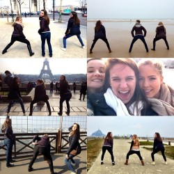 ya girlz take France. #twerkteam 💃🇫🇷 @iznorton27 @vacoffield