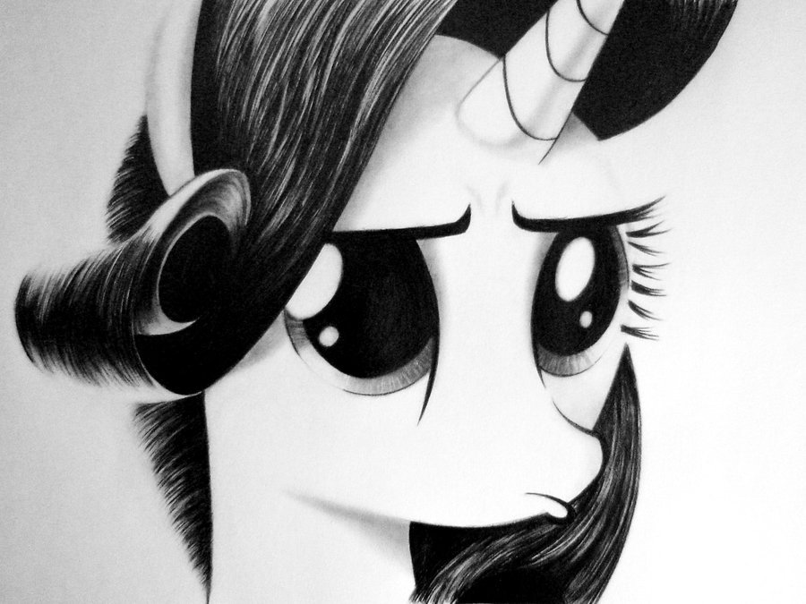 theponyartcollection:  Rarity Pouty Face by *Names76