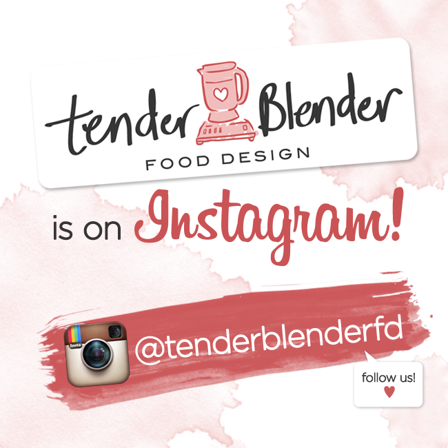 We're on Instagram! It's about time, right? Aside from posting mouth-watering food photos, we'll also be posting behind the scenes stuff from our shoots, events that we attend, basically anything related to Tender Blender! Hurray! Do follow us! @tenderblenderfd :)