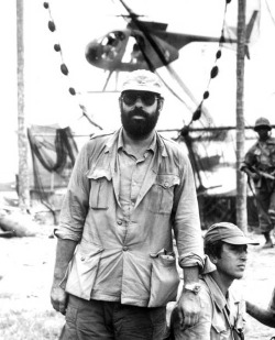 Coppola, on the set of Apocalypse Now.