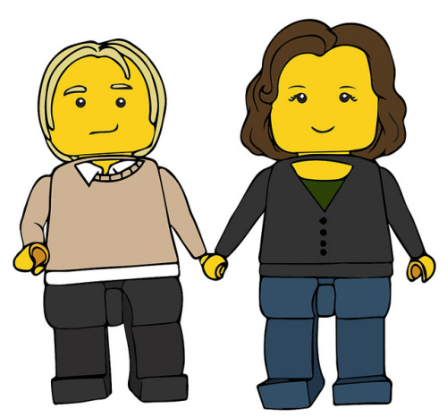 Me and my Mate as Minifigs by indispensable queen on Flickr.