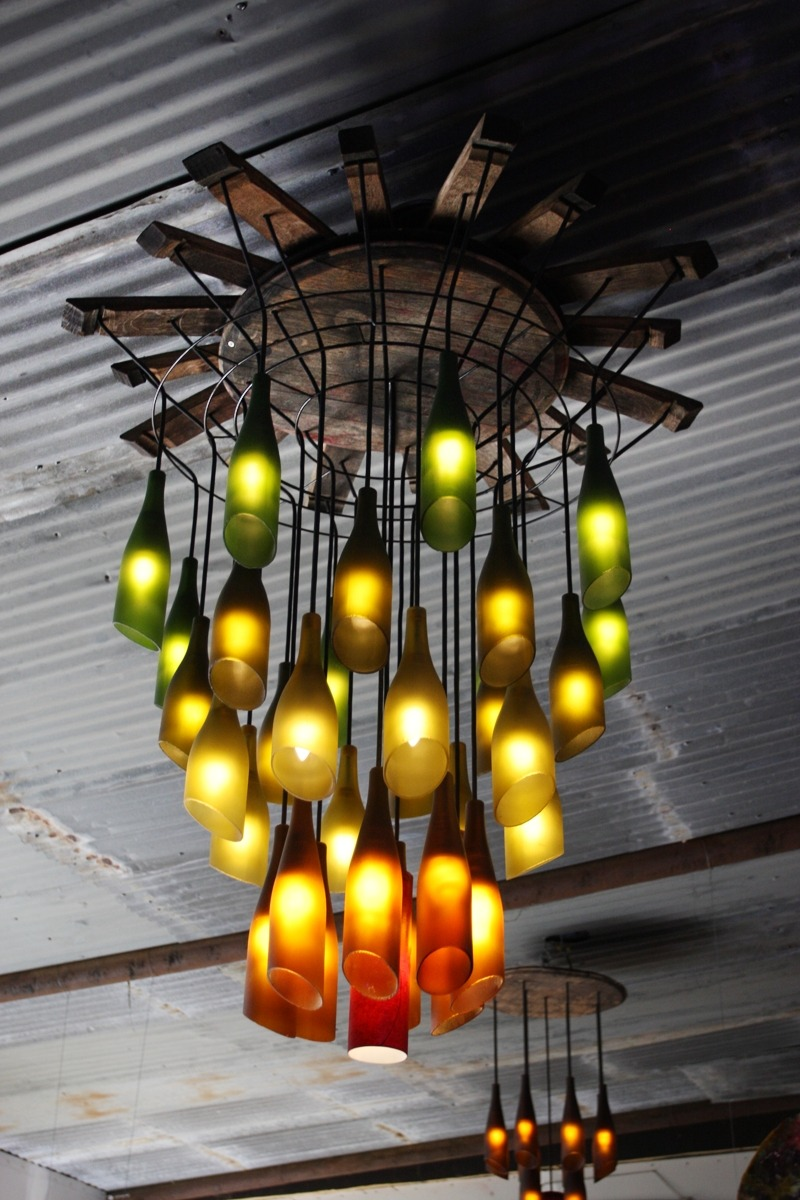 Great reuse of wine barrels and wine bottles: Junk really CAN be beautiful and useful! -Kathy  Via: earth911
