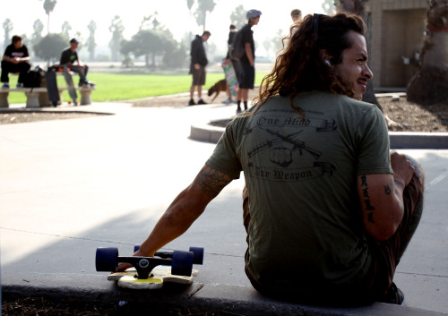 Franklin Quiros, a participant at the 4th annual Skate for the Troops and Oceanside, Calif., native, prepares to begin the seven-mile skate around Mission Bay in San Diego Dec. 9. Quiros, a former Marine Corps Martial Arts Program instructor and 9-year veteran, came to the event to support the Semper Fi Fund and enjoy a long skate.Read more: http://www.dvidshub.net/image/798165/skate-troops-marks-4th-year#.UN51WInjnmA#ixzz2GPfhnaFh