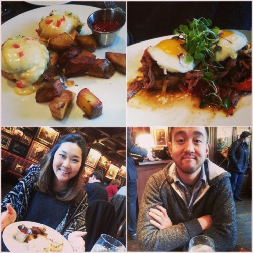 Yum yum brunch with the fiance today in Philly (at White Dog Cafe)