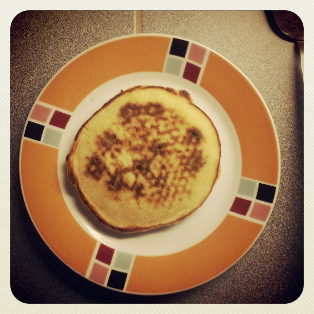 My first ever american pancake is quite good looking!