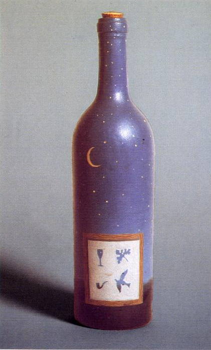 Rene Magritte - The Bottled Night Sky