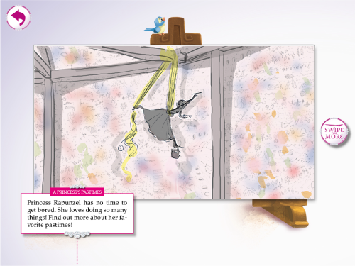 Tangled Storyboards  from the Disney Princess - Royal Party iPad App Lissa Treiman | Digital