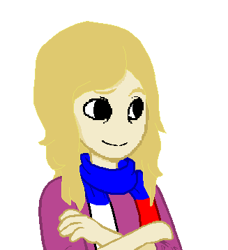 sesquipedalianbluff:   This is a talksprite I made for my lovely Mommy without her asking or knowing. I felt the need to since she has never changed her icon.Soap, I made her this.It is her.Thescarf I tried to make it the Russian Flag but I couldn't do horizontal layering without it looking dumb so I didn't.   AAAAAAAH, LOOK AT THE CUTENESS ONE OF MY DARLINGS MADE FOR ME THIS IS REALLY A MORE ACCURATE DEPICTION OF MY DISPOSITION too I just auugh I love it! ヾ(;ヮ;)
