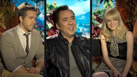 Nicolas Cage, Ryan Reynolds & Emma Stone talk The Croods It's obvious to anyone who's seen The Croods that Nicolas Cage, Emma Stone and Ryan Reynolds had a great time making it…