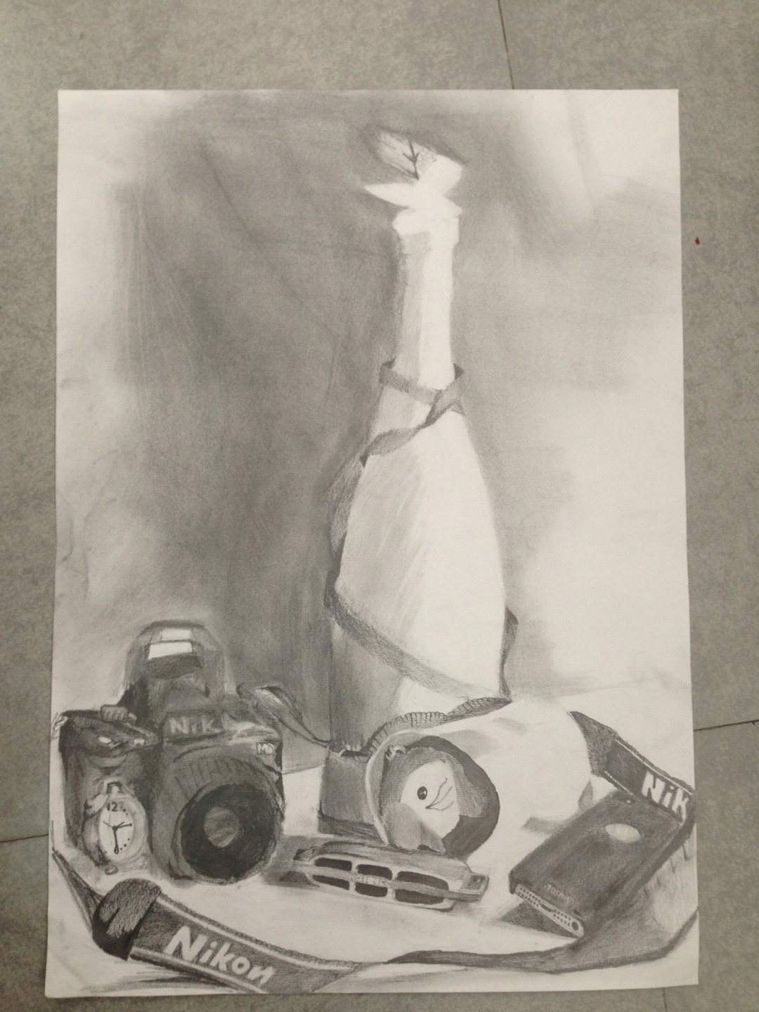 My still life sketch is finally finished!!!!!