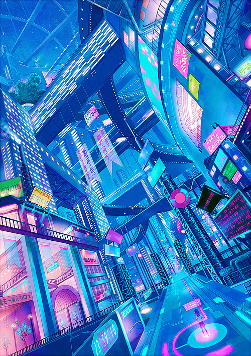 Superb cyberpunk artwork!!