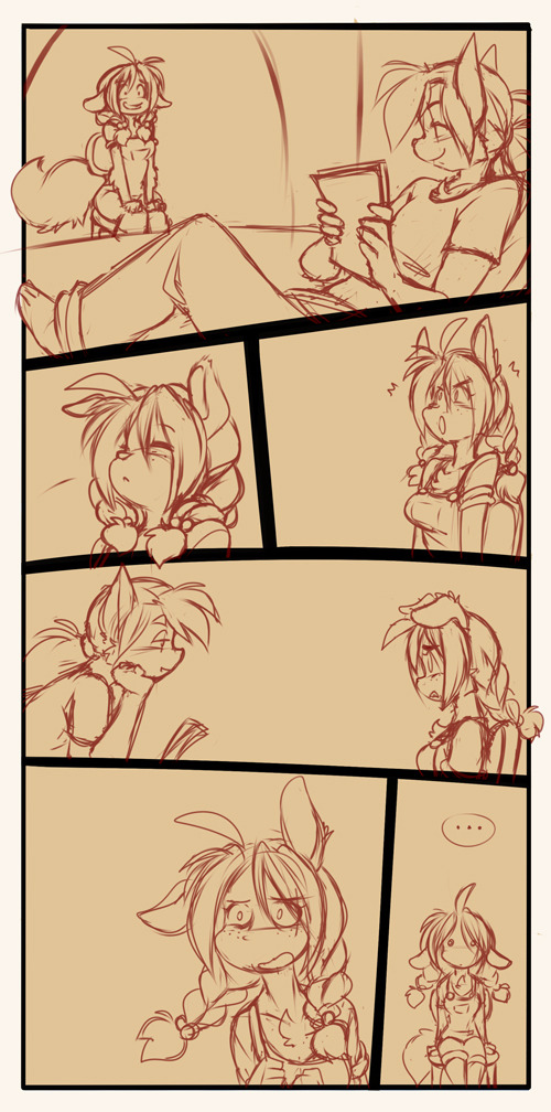 chalodillo:  Today I sketched the new page. Had fun with the silly faces. :D