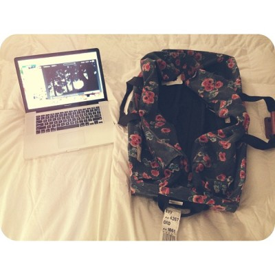 Two of my favorite things: Grey's Anatomy + packing. #travels #afterlight #lensflare