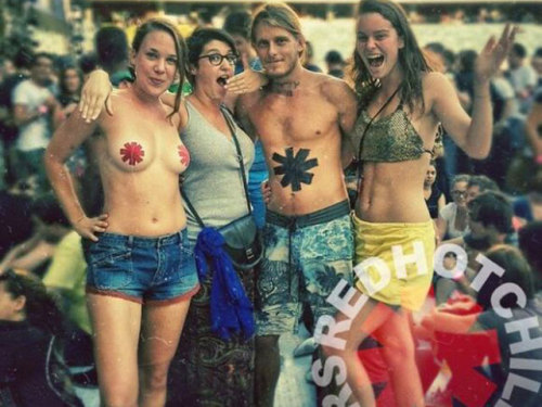 Red Hot Chili Peppers Fans at the Cape Town Stadium in South Africa on February 5th, 2013.