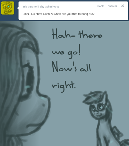 ask-desperate-dash:  What's going on, Fluttershy? 13  ((*Working on response* c:))