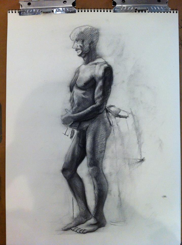 Figure drawing class work 2 hours