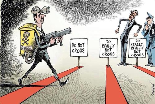 Assad crossing the world's 'red lines' …