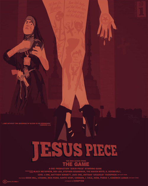 Game - Jesus Piece (16 x 20 Poster) [Resized] THIS PIECE HAS BEEN CHOSEN AS A TOP 5 FINALIST IN THE 'JESUS PIECE' POSTER CONTEST RUN BY CREATIVE ALLIES BUT NEEDS YOUR VOTE TO WIN!   Please hit the link below to cast your vote now! https://www.facebook.com/thegame/app_247436055289326