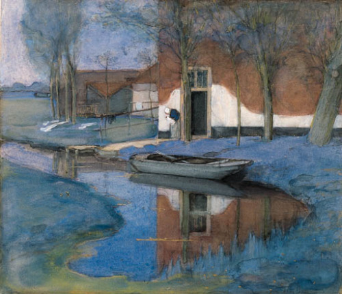 poboh:  A Farmbuilding, Piet Mondriaan. Dutch (1872 - 1944)