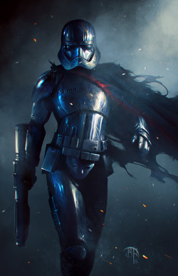 film star wars fan art The Force Awakens captain phasma benny kusnoto