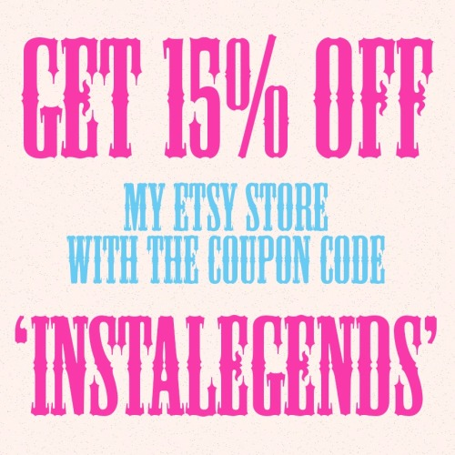 Why should Instagram followers get all the love?  15% off my Etsy store for a limited time.