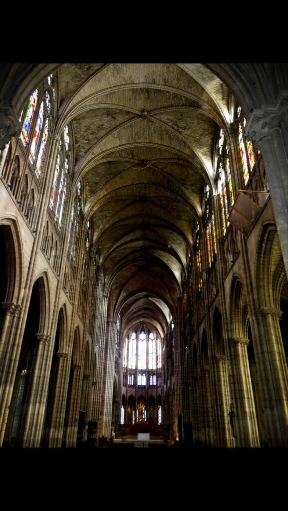 Candice Greene/ Paris, France  @stjglobal Church in St.Denis! Beautiful architecture