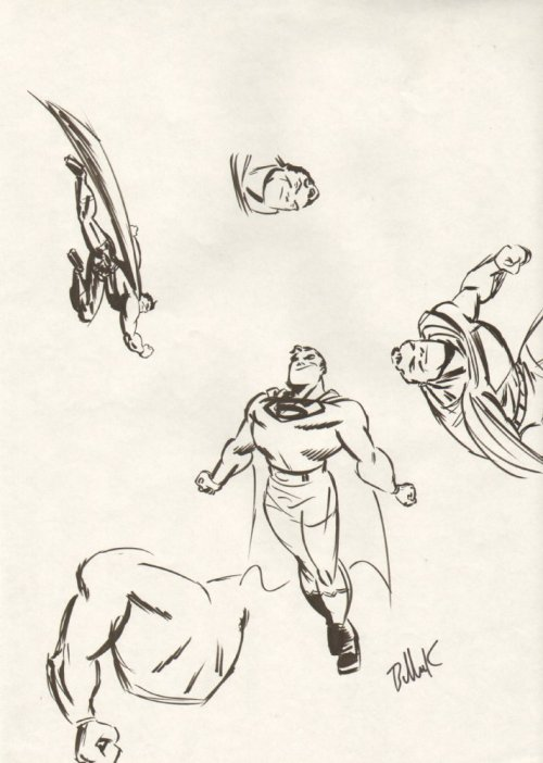 "via pixoholic:  ""Some great Dave Bullock Superman roughs."""