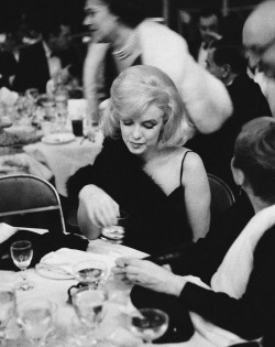 Marilyn Monroe at The Actors Studio benefit, March 1961.