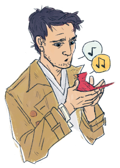 redribbonrobot:  I just really want a scene where Cas talks to some birdies… ;u;