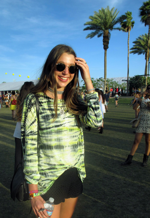 The perfect @proenzaschouler tie-dye festival top seen this weekend at @coachella #coachella #coachella2013