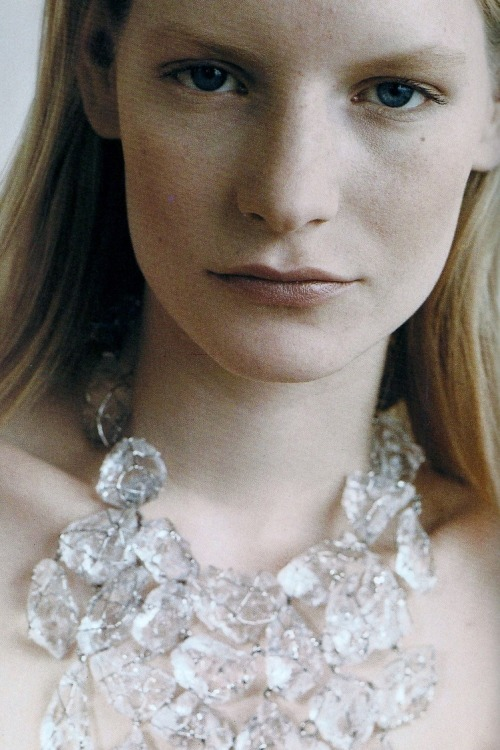 """L'age De Cristal"" Kirsten Owen by Oberto Gili for Vogue Paris May 1990"