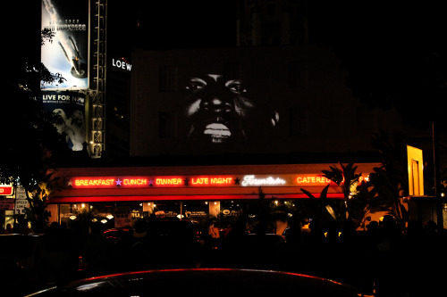 g-lowofficial:  Kanye West New Slaves Los Angeles 12:00 Mel's Drive-In
